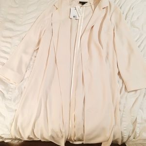 Topshop Nude Mid-length Coat (US Size 4)